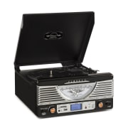 TT-1062E Vintage Stereo System USB SD MP3 - Black Black
