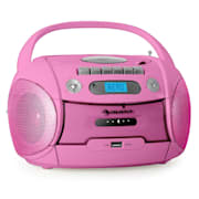 Boomgirl Kassettenplayer USB MP3 Pink