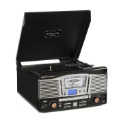 TT 1065 Retro Hifi Vinyl Stereo System CD SD USB Radio Black