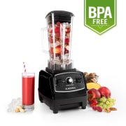 Klarstein Herakles 2G-B asztali mixer 1200 W, zöld smoothie, 2 liter, BPA nélkül Fekete