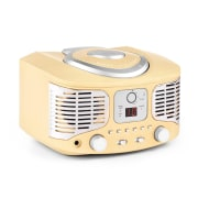 RCD320 Retro CD Player FM AUX Cream Creme