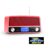 Nizza Radio rétro DAB+ Bluetooth FM AUX 2.1 Subwoofer -rouge