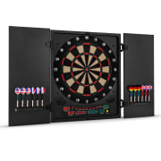 Dartmaster 180 Electronic Dartboard with Soft Tip Darts and Doors Black