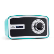 Sheffield blue retro digitale radio DAB+ FM batterij turkoois