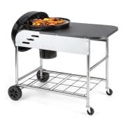 Meatpacker XXL Barbacoa de carbón vegetal BBQ Horno para ahumar Ø 54 cm galvanizado