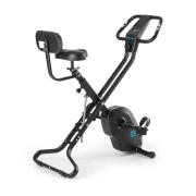 Azura X2 X-Bike, kolo, do 120 kg, měřič tepu, sklápěcí, 4 kg, černý Černá