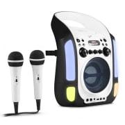 Kara Illumina, černý, karaoke systém, CD, USB, MP3, LED světelná show, 2x mikrofon, přenosný