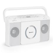 Boomtown USB, boombox, CD player, FM radio, MP3, prijenosni radio, bijela boja