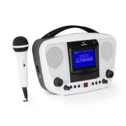 KaraBanga, караоке система, микрофон, TFT цветен дисплей, 4.3 '', bluetooth, бяла