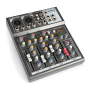 VMM-F401, consola de mixare muzicală cu 4 canale, USB player, AUX-IN, puterea de 48V
