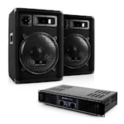 "Set complet DJ PA ""Nizza Nights"" Amplificator 2x Boxe"
