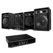 Dj set sistema audio 4x casse 2x amplificatori pack kit
