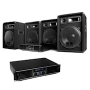DJ PA pro Pack sono 2 ampli 4 HP enceinte set kit 2400W