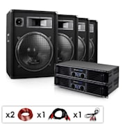 "DJ set ""Miami Quasar Pro"", 2x pojačalo, 4x zvučnici"