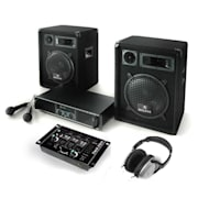 Kit PA ampli HP DJ sono Pack enceintes mixer casque set