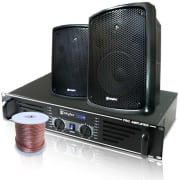Catering Set PA Boxes Amplifier Speakers