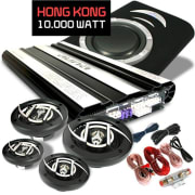Hongkong Car Hifi Set 4.1 10.000 W max. 4 boxen & Bass & Amp