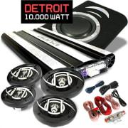 "Car Hifi set ""Detroit"" 4.1 installatie 10.000W max. boxen versterker Amp"