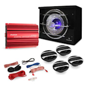 """Madrid"" Kit Car HiFi 4.1 3000W Altif. Baixo Amplificador"
