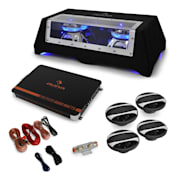 "Car Conjunto Hi-Fi ""London"" Sistema 4.1 Bass, Colunas e Amplificador"