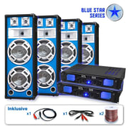 "PA set Blue Star Series ""Bassveteran Quadro"", 3200 W"