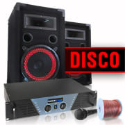 DJ and PA Complete Set 'Disco' Amplifier Boxes Mic
