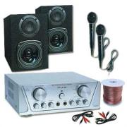 Hi-fi szett HVA 200 + MC 130 + 2 mikrofon – karaoke