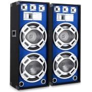 38 cm PA hangfalpár, kék fényeffekt, 2 x 1000 W