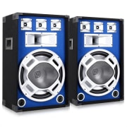 Para głośników PA 38cmniebieski efekt świetlny 2x800W