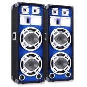 """800 W DJ PA modri LED dvojni 10"""" pasivni zvočnik"""