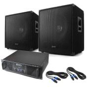 Lewis 1600 Bass Hurricane - DJ PA Set 45cm 1600W