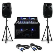 DJ PA szett Punch Line 1200 W, keverőpult, USB, SD portok