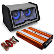 "Set sistem audio auto ""Bassophant"" subwoofer 0,1 amplificator"