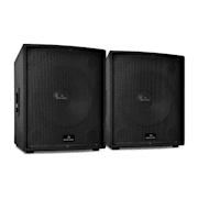 "Pair of Malone 18"" Active PA Subwoofers 5000W"
