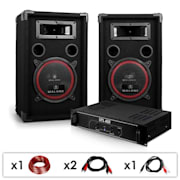 DJ12Set audio professionale 1ampli e 2casse 1000W
