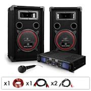 """Set DJ PA """"DJ-14"""" PA-Amplificator Difuzoare, 1000W"""