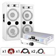 """DJ PA rendszer """"DJ-22"""", erősítő, hangszóról, 1000W"""