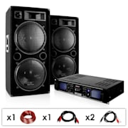 DJ PA készülék DJ-42, erősítő, hangfal 3000 W
