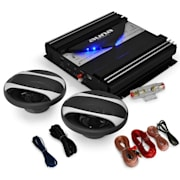 "Set HIFI auto ""Black Line 200 'amplificator 1400W"