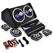 "4.1 Set HIFI auto""Black Line 520 'Amplificator"