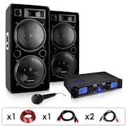 """DJ PA-set """"DJ-26""""- slutsteg PA-högtalare mikrofon 2000W"""