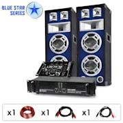 """Blue Star Series """"Beatmix""""set DJ PA 1200 Watt"""