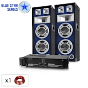 "Blue Star Series ""Bassboom"" sistema audio 1600 Watt"