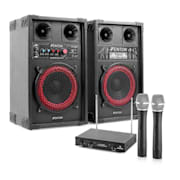 KARAOKE STAR-Mitte zvočniki brezžični mikrofon 400 W sistem