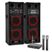 """Karaoke szettek """"STAR-Köpenick"""" , SPB-28 PA Aktív/Passzív Dual 8"""" PA Hangfalak 8"""