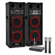 Караоке комлект STAR-Köpenick, високоговорители, 2 микрофона, 800 W
