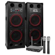 """Karaoke szettek """"STAR-Schöneberg"""" , SPB-210 PA Aktív hangfalszett 2 x 25cm"""