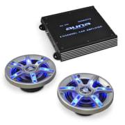 Комплект hi-fi за кола BeatPilot FX-202, високоговорители, усилвател