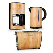Bamboo Garden Ontbijtset Koffiezetapparaat Waterkoker Broodrooster