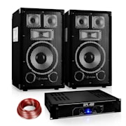 "PA Set Sapphire Series ""Warm Up Party"" 8PLUS cu pereche de boxe și amplificator de 8 ""400W"